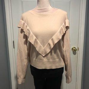 Gap merino wool blush pink sweater.
